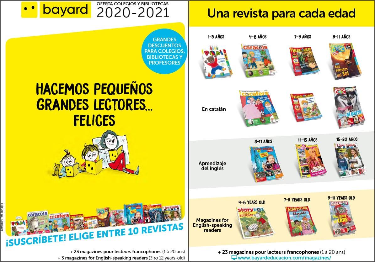 Oferta colegios y bibliotecas 2020-2021